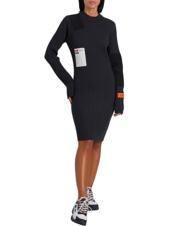 HERON PRESTON Knitted Dress With Patches