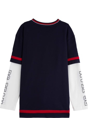 Dolce & Gabbana Cotton Sweater With Front Logo Print