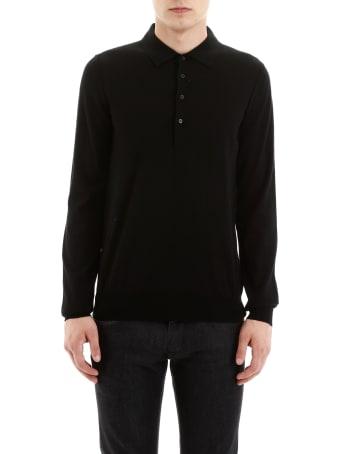 CC Collection Corneliani Wool Polo Shirt