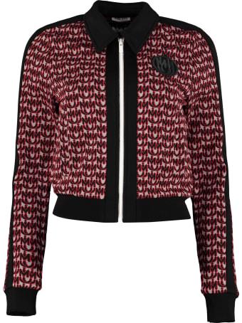 Miu Miu Full-zip Knitted Sweatshirt