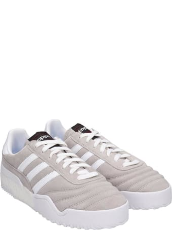 Adidas Originals by Alexander Wang Bball Soccer Sneakers In Grey Suede