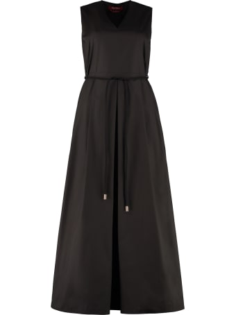Max Mara Studio Bruna Belted Cotton Dress