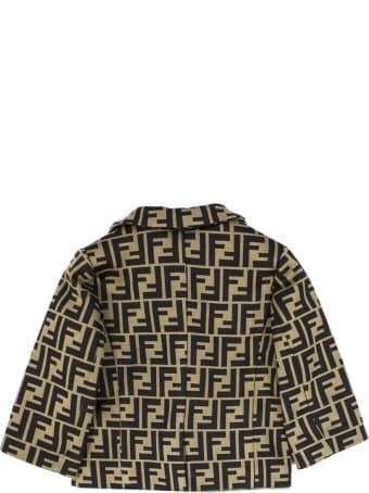 Fendi Brown Cotton Blend Jacket