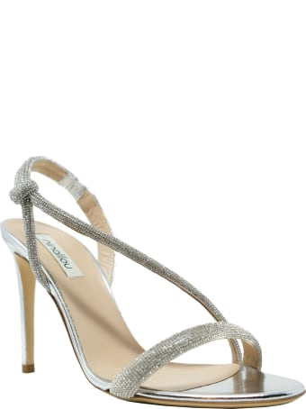 Ninalilou Mirror Plated Silver Leather Sandals