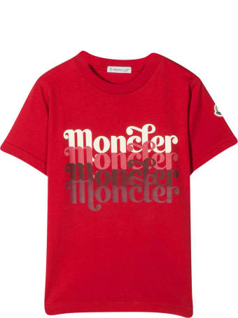 Moncler Red T-shirt With Print