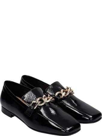 Fabio Rusconi Loafers In Black Patent Leather