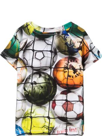 Molo White T-shirt With Multicolor Print
