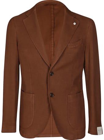 L.B.M. 1911 Caramel Brown Cotton Blend Blazer