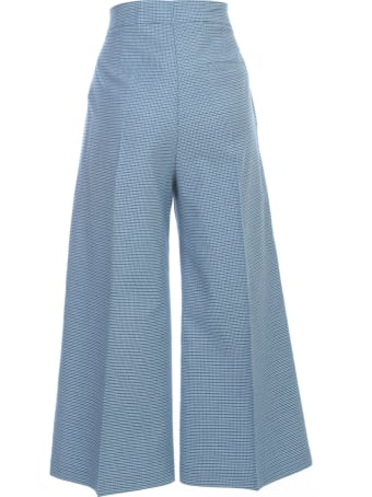 Be Blumarine Cropped Micro Checked Pants