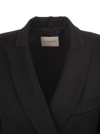 Giuseppe di Morabito Black Woman Jacket With Jewel Fringes And Buttons