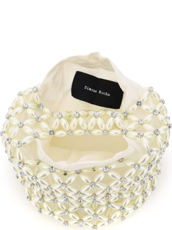 Simone Rocha Small Tote Bag With Pearls And Crystals