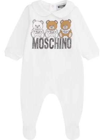 Moschino Logo Print Long Baby-romper