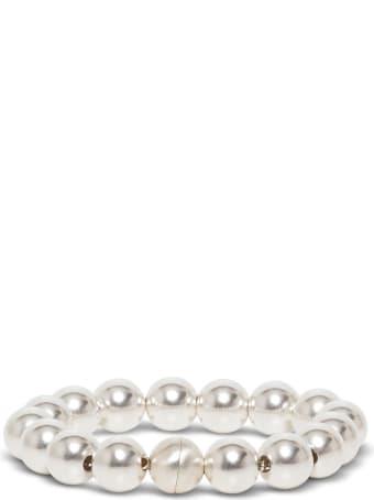 Jil Sander Silver Pearl Bracelet