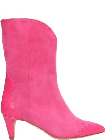 The Seller Pink Suede Ankle Boots