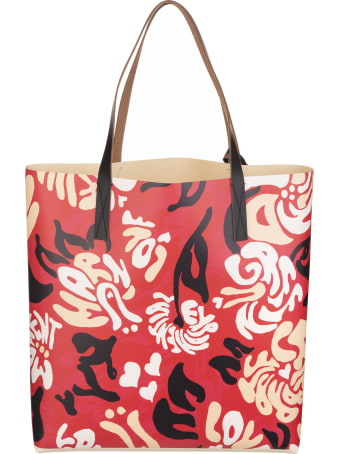 Marni Floral Print Shopper Bag