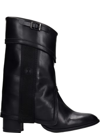 Bruno Bordese Sofi High Heels Ankle Boots In Black Leather