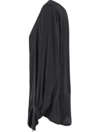Dondup Black Silk Blend Blouse