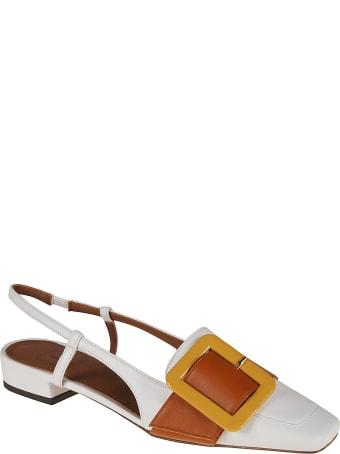 L'Autre Chose Slingback Buckle Applique Sandals