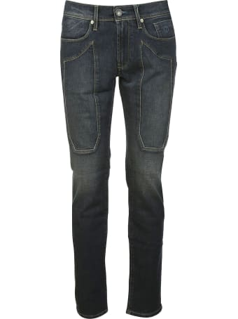 Jeckerson Patched Detail Fit-slim Jeans