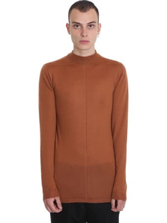 Rick Owens Level Lupetto Knitwear In Brown Wool