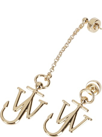 J.W. Anderson Gold-tone Brass Anchor Earrings