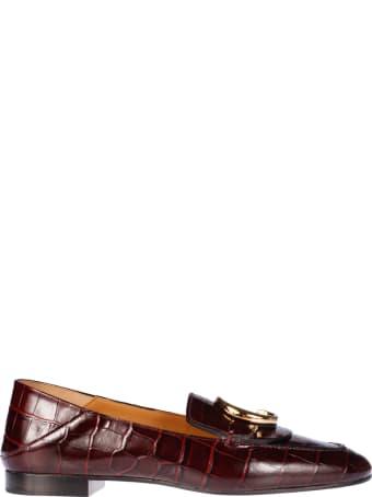 Chloé Logo Plaque Loafers