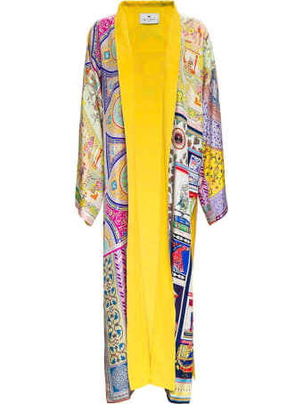 Etro Printed Silk Long Cardigan Look 39