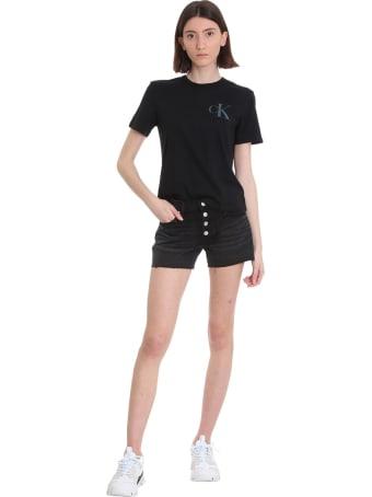 Calvin Klein Jeans T-shirt In Black Cotton