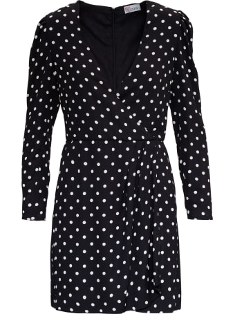 RED Valentino Polka Dots Pattern Dress In Crepe