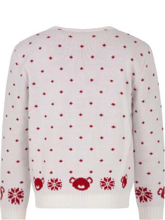 Little Bear White Sweter For Kids