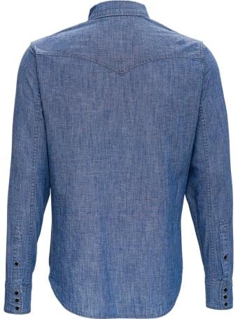 Saint Laurent Classic Western Cotton Blend Shirt