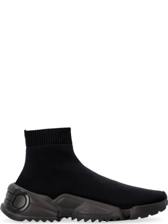 Salvatore Ferragamo Raquel Knitted Sock-style Sneakers