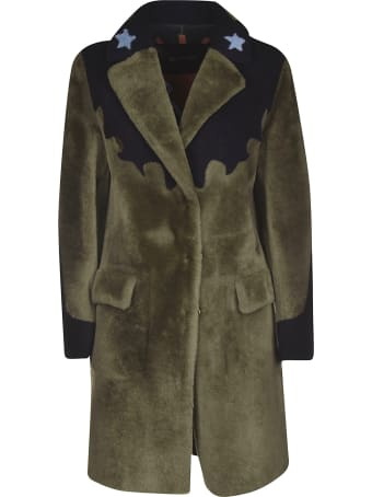 Blancha Embroidered Fur Coat