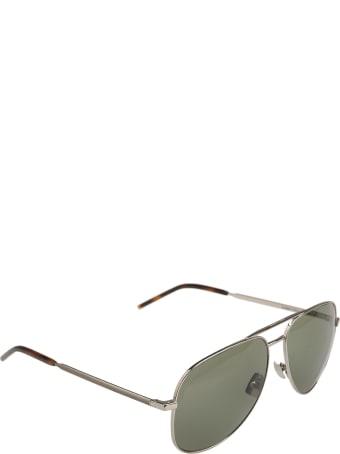 Saint Laurent Green Aviator Sunglasses