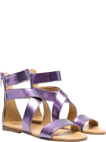 Gallucci Metallic Purple Sandals Teen Kids