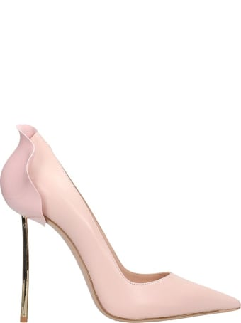 Le Silla Pumps In Rose-pink Leather