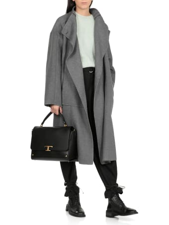 3.1 Phillip Lim Melton Wool Blend Blanket Coat