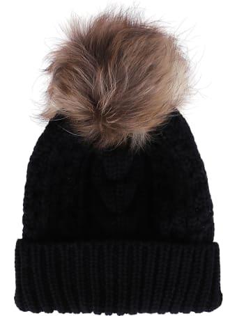 Woolrich Black Wool Beanie Hat