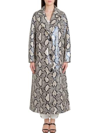STAND STUDIO Mollie Python Trench-coat