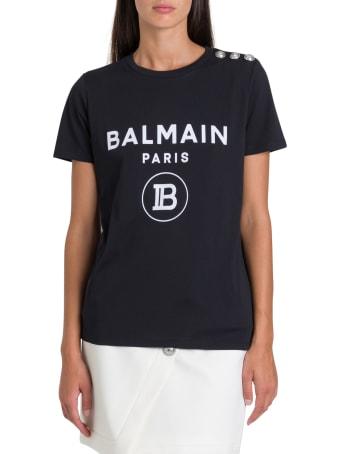 Balmain Logo & Buttons Tee
