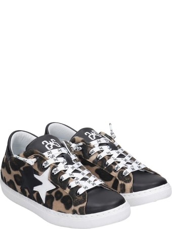 2Star Sneakers In Animalier Pony Skin