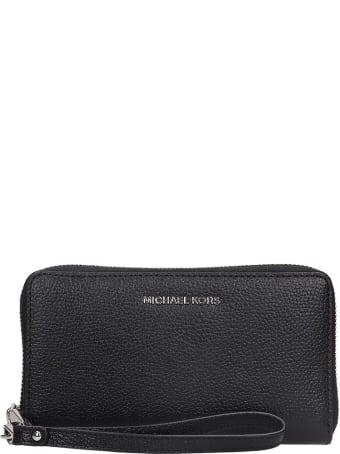 Michael Kors Wallet In Black Leather
