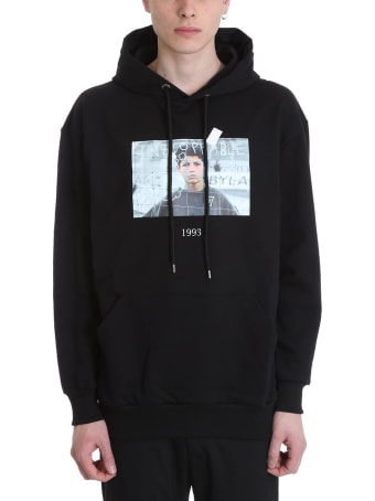 Throwback Cristiano Black Cotton Hoodie