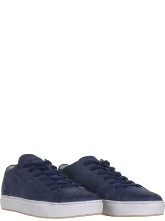 Crime london Sneakers In Blue Nabuk