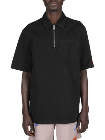 HERON PRESTON Heron Spray Half Zip Shirt