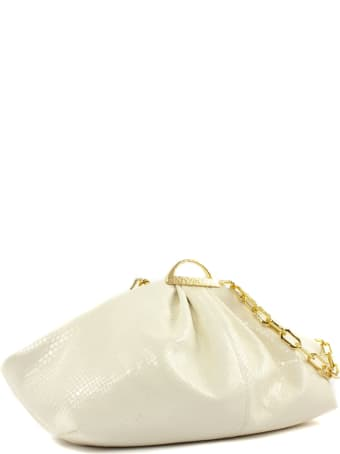 the VOLON White Leather Gabi Clutch Bag
