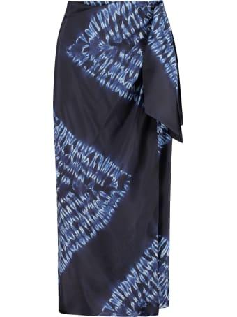 Parosh Setay Printed Silk Skirt