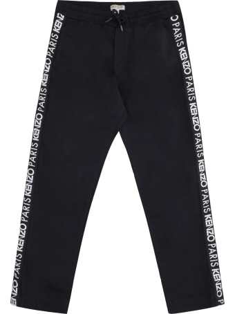 Kenzo Kids Logoed Side Stripes Track-pants