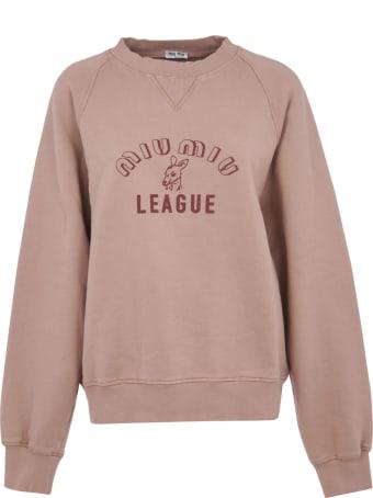 Miu Miu Logo Print Sweatshirt