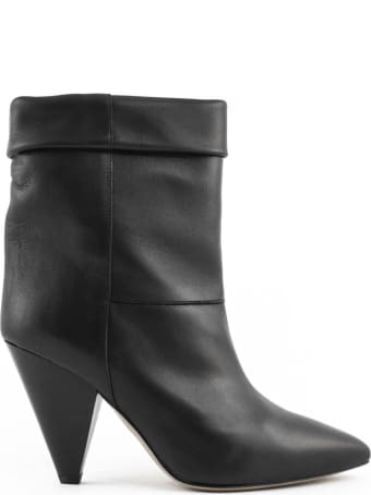 Isabel Marant Black Tapered Heel Boots